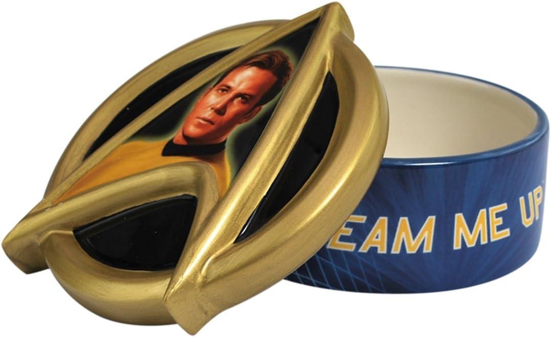 Westland Giftware Ceramic Trinket Box, 2-Inch High, Star Trek Captain Kirk