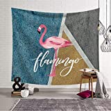 apartment living room decorating ideas Handser Flamingo Tapestry Wall Decorative Series Wall Hanging, Flamingo Tropical Wall Blankets, Mural Tapestry Bedroom Living Room or Apartment Wall Tapestry 60x40inch