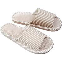 Zapatillas para Mujer Hombre Unisex Zapatillas de Estar por Casa de Lino Interior Sandalias de Playa Verano Primavera…