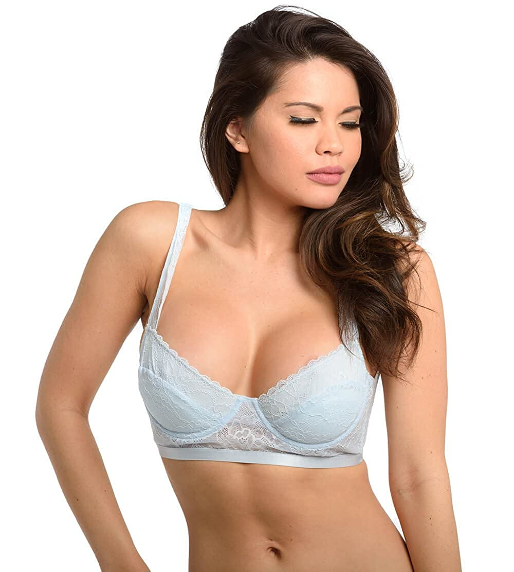 Velvet Kitten Women s Sexy and Soft Baby Blue Mesh Inside Look Lingerie Bra  at Amazon Women s Clothing store  31d4f3098