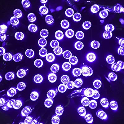 CrazyFire® 200 Leds Lamp Beads Purple Light Color Decoration Light for Party Holiday Halloween Outdoor Trees Festival Solar Powered String Led Light