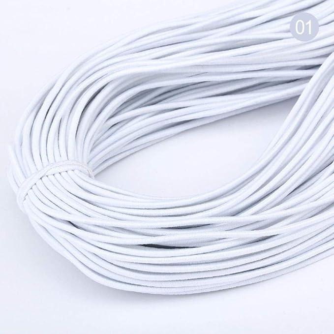 Snakell 3Mm d/ünnes rundes elastisches elastisches Gummiband Elektroschockseil 11 Farben L/änge 5M elastischer Riemen Ohrringlinie elastisches Ohrschnallenseil Handgemachtes N/ähgarn