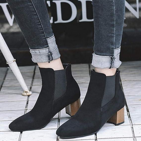 7b66dadad61 DENER❤ Women Ladies Ankle Boots with Heels