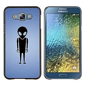 """Be-Star Único Patrón Plástico Duro Fundas Cover Cubre Hard Case Cover Para Samsung Galaxy E7 / SM-E700 ( Extranjero minimalista"""" )"""