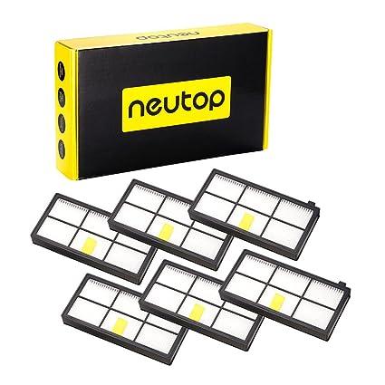 neutop alta eficiencia Filtro de repuesto para IROBOT ROOMBA 880 ...