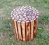 Mywoodkart Wooden Log Stool Round