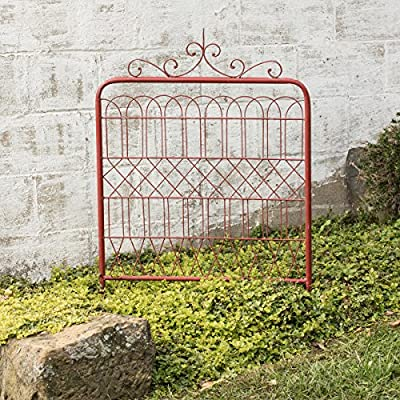 Large Red Garden Gate