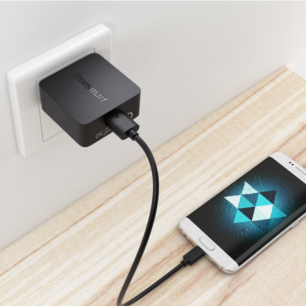 BLU Vivo 8 QUICK CHARGE 3.0 18W Wall Charging Kit with (2)5Ft Cables. Both a USB Type-C & MicroUSB Cable! [Qualcomm Certified / 110-240v / 82 Voltages)