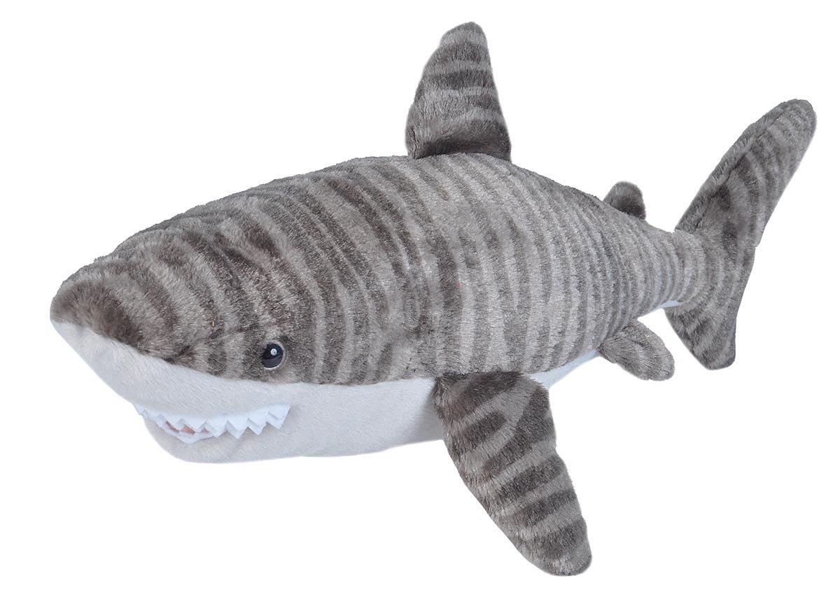 Wild Republic Tiger Shark Plush, Stuffed Animal, Plush Toy, Gifts for Kids, Cuddlekins 23 inches 22487
