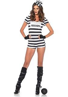 Amazon.com: De la Mujer Sexy disfraz de preso adulto Juego ...