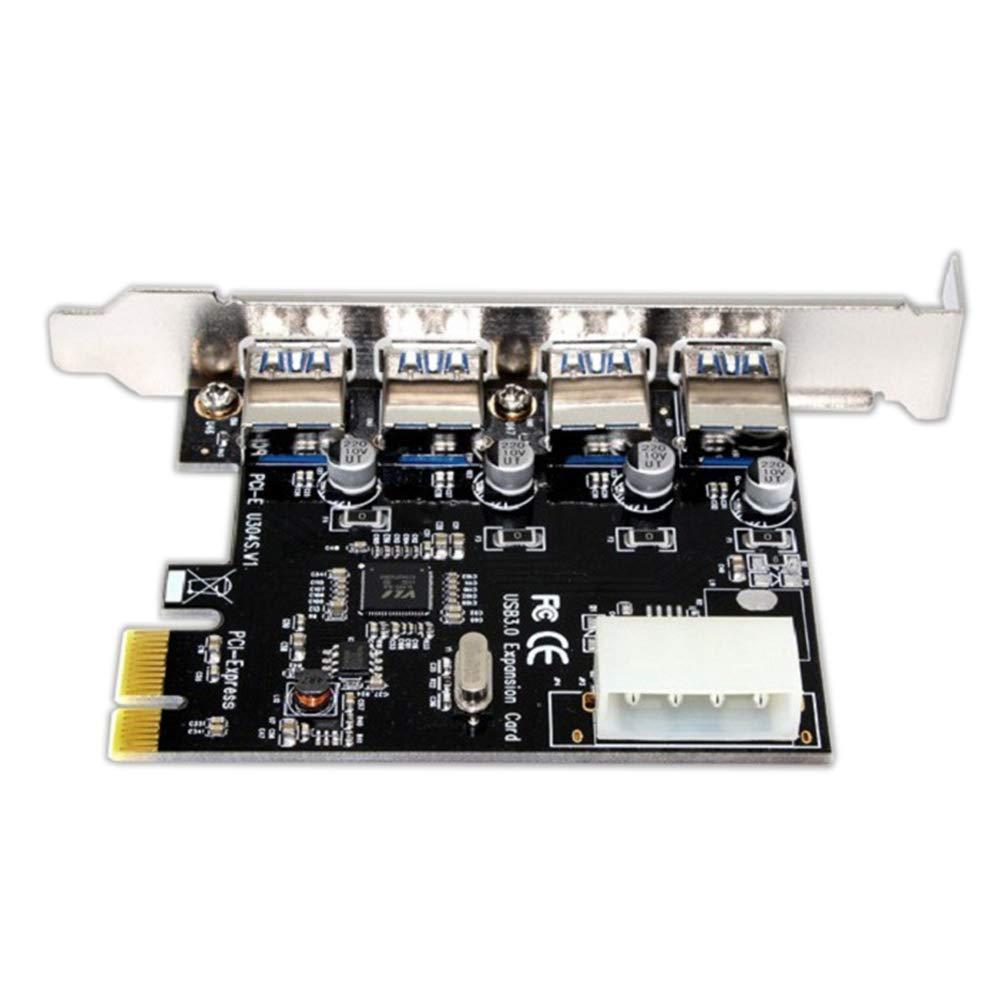 Yeshai3369 Tarjeta de expansión USB 3.0 PCI Express (PCIe) 4 ...