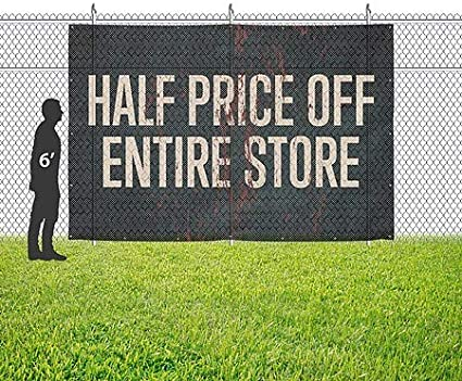 CGSignLab 12x8 Ghost Aged Rust Wind-Resistant Outdoor Mesh Vinyl Banner Half Price Off Entire Store