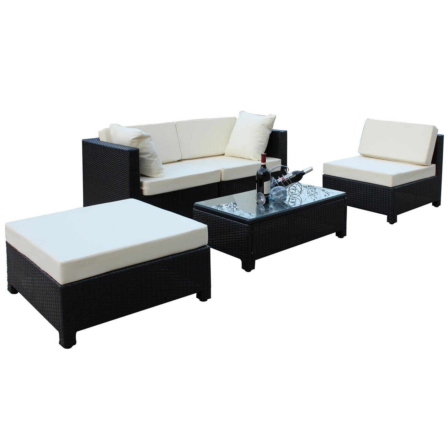Evre Rattan Outdoor Garden Furniture Coffee Table Sofa Chair Set