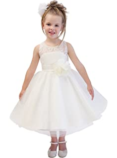 KekeHouse® Flower Girls Dress For Wedding Floral Lace Princess Banquet Dress Pearls Beading Child Dance
