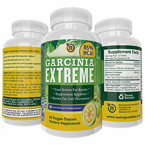 85% HCA Garcinia Cambogia Extract Pure Garcinia Cambogia Extract Diet Pills that Work for Women and Men Powerful Natural Appetite Suppressant Weight Loss Supplement 90 NON GMO Vegetarian Safe Tablets