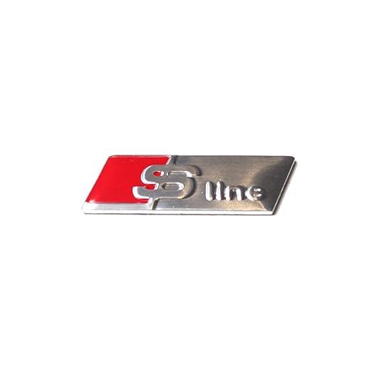 2 opinioni per Volante Audi S linea Sticker interni del distintivo autoadesivo metallo cromato
