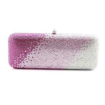 Ghpter Monedero de la Boda Bolso de Embrague de Noche de Cristal para Mujer Bolso de