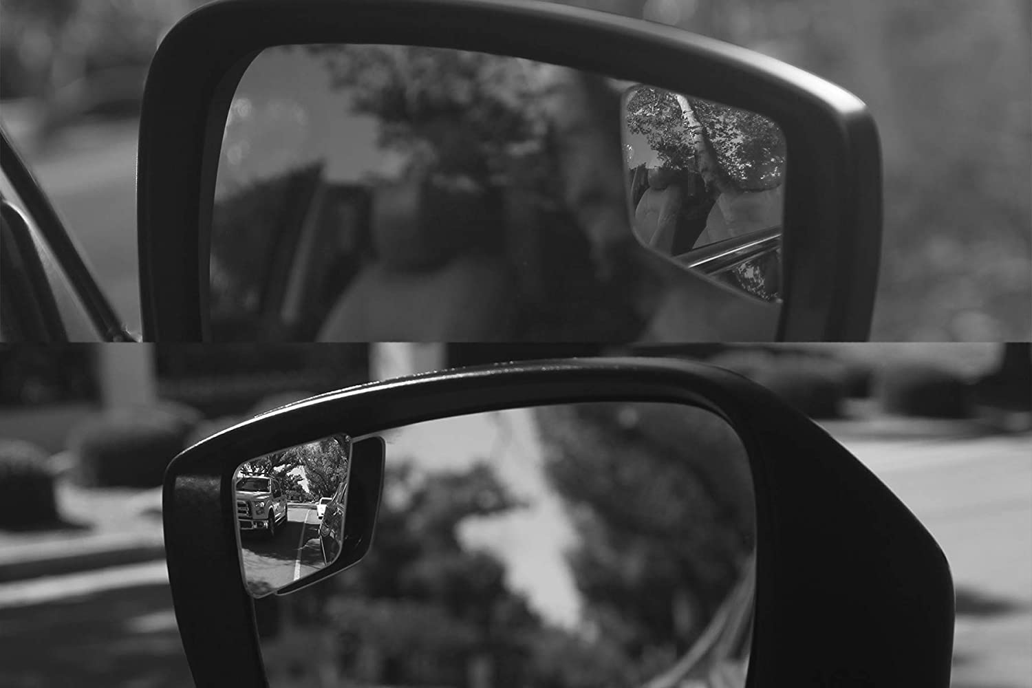 Convex Mirror Seamlessly Contours to Your Cars Side Mirror Easy Installation Rhombus 4 Blindspot Mirror by Safe View Company HD Glass Safer Lane Changes 63x50mm Frameless Design 2 Pack