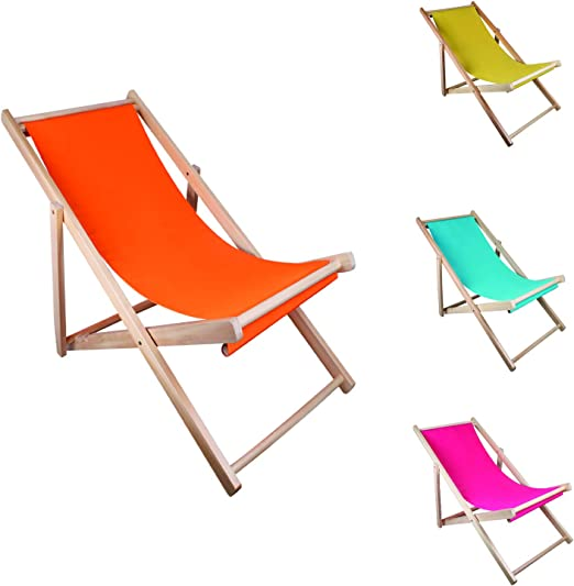 Mojawo – Tumbona plegable de madera – Tumbona plegable de playa silla de madera silla de playa tumbona balcón silla de sol jardín tumbona: Amazon.es: Jardín