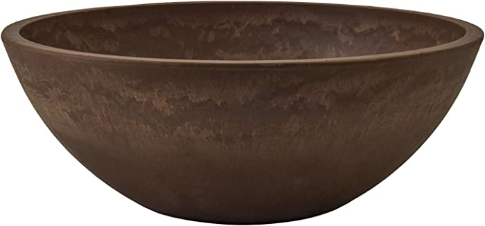 Arcadia Garden Products PSW M30C Garden Bowl, 12 by 4.5-Inch, Chocolate