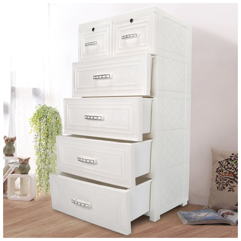 CY BAG Kids Closet storage cabinet with 4 Drawers and 2 Storage Cabinets(With Handle)