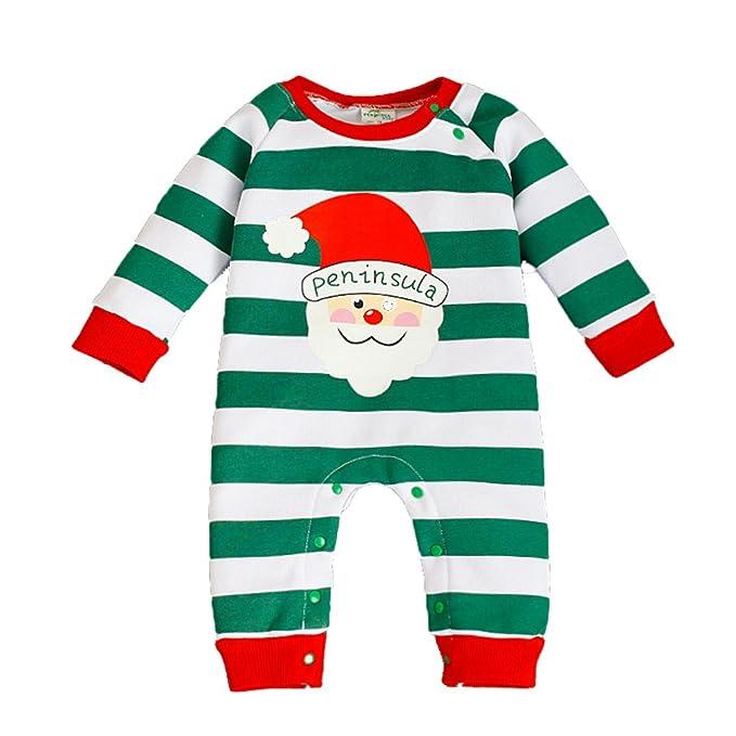 Niza de diámetro diseño de rayas, niños o niñas - Juego de pelele de pijama de Navidad multicolor B S: Amazon.es: Ropa y accesorios