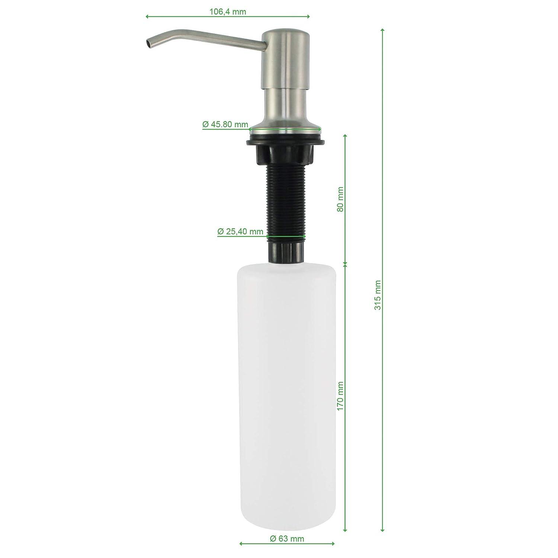 Seifenspender Seifendosierer Wandspender Spülmittelspender Flüssigseifenspender