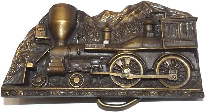 Vintage Capt Hawks Sky Patrol belt buckle locomotive train 1977 enamel