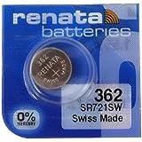 Renata 2 x polshorloge accu - Swiss Made - batterijen cellen zilveroxide 0% kwik vrij knoopcel 1,55 V lange levensduur…
