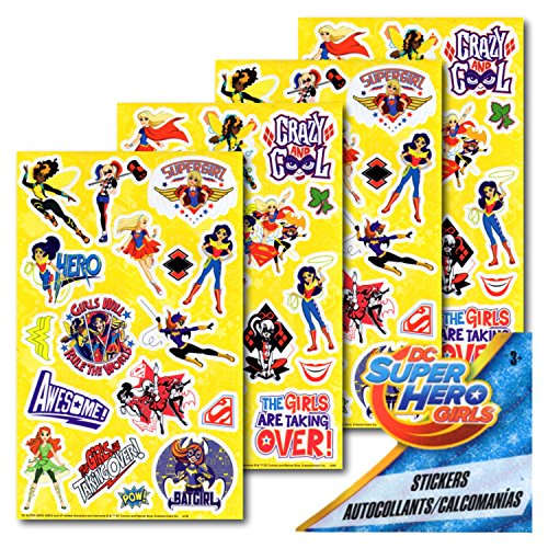 Sandylion DC Super Hero Girls Stickers - 4 Sheets
