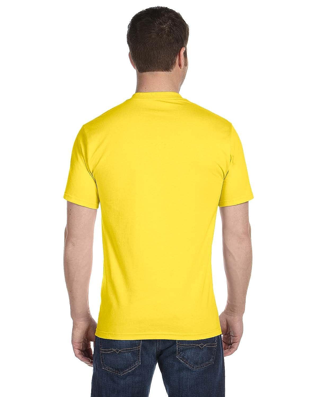 Yellow 2XL - By Hanes Hanes 52 Oz ComfortSoft Cotton T-Shirt Style # 5280 - Original Label