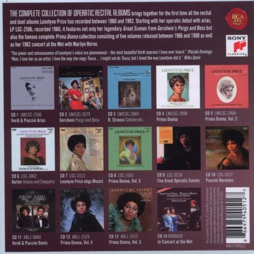 Leontyne Price - The Complete Album Collection of Opera Arias and Duets by Sony Classical (Image #2)