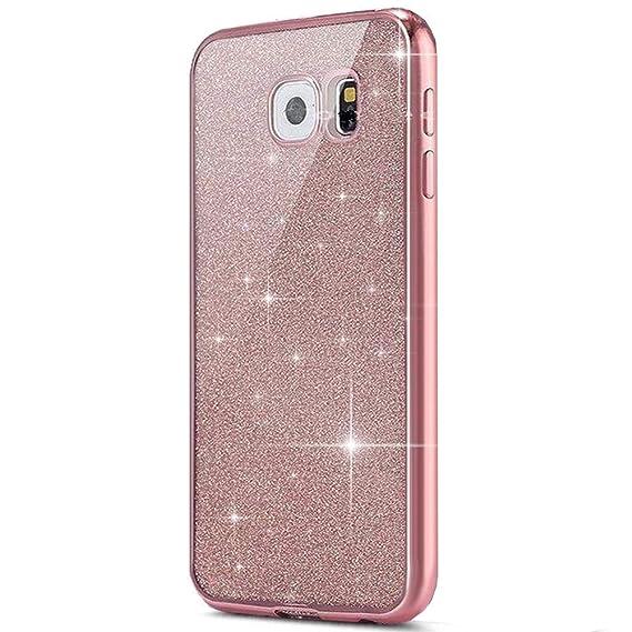 kompatibel mit Galaxy S7 Hülle,Galaxy S7 Silikon Hülle Glitzer,Galaxy S7 TPU Silikon Bumper Handyhülle Schutzhülle,Ultradünn