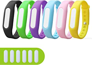 6 Pack Mosquito Repellent Bracelets, Natural and Waterproof Wrist Bands for Adults, Kids, Pets - [Individually Wrapped], Travel Protection Outdoor – Indoor