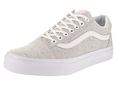 dbc7f95889f Image Unavailable. Image not available for. Color  Vans Unisex Old Skool ( Speckle Jersey) Grey Tru Skate Shoe ...
