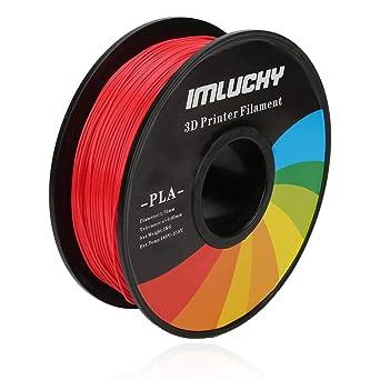 Amazon.com: IMLUCKY PLA Filamento para impresora 3D, carrete ...