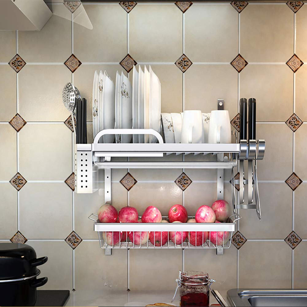ベスト キッチン用棚/ステンレススチール/ドレインラック/ホーム/キッチン用品ラック/ウォールマウント/シンクプールラック/キッチン用品ラック (色 : F f) B07RVC8VH5 F f