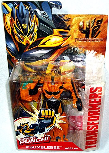 Qiyun Transformers Age of Extinction Movie Power Punch Bumblebee Action Figure Toy (Transformers Age Of Extinction Bumblebee Toy)
