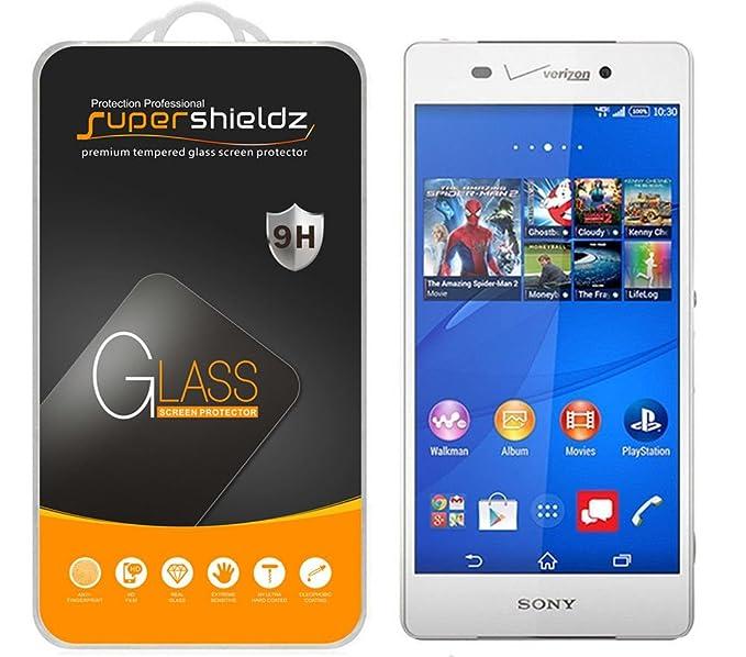 Amazon Supershieldz For Sony Xperia Z3v Tempered Glass Screen