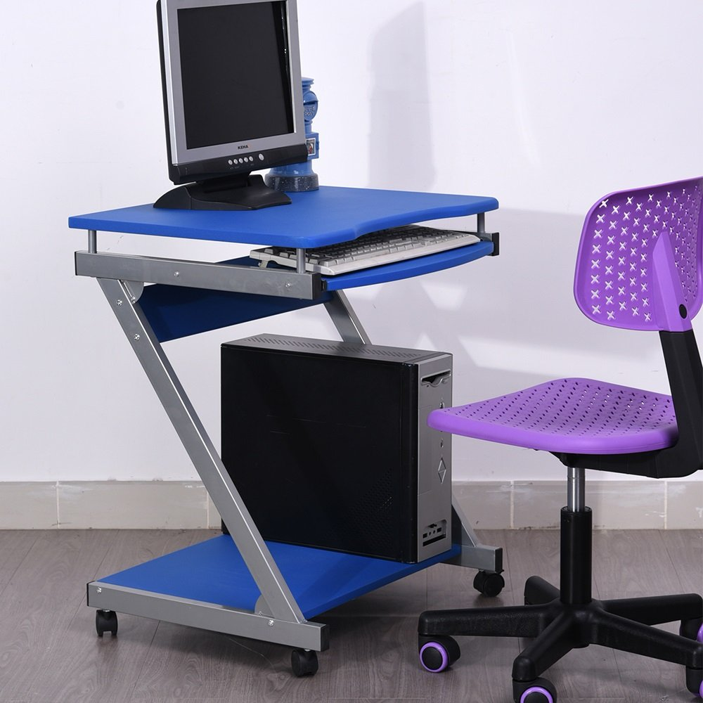 Portable Adjustable Laptop Computer Desk Stand Table(blue)