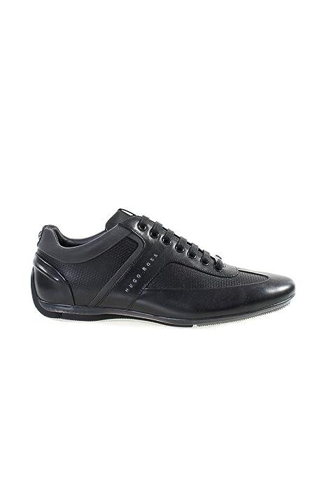 Hugo Boss - Zapatillas de Piel para Hombre Negro Negro, Color Negro, Talla 40 EU: Amazon.es: Zapatos y complementos