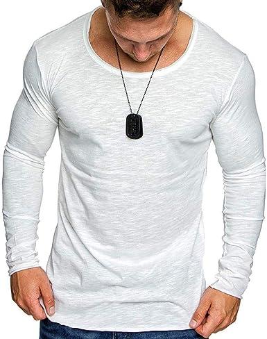 Moda Masculina Larga Y Sólida Camisa Color Tops De Puro Blusa Ropa Camisa Años 20 De Algodón Sudadera Camisa Larga Sundress Túnica: Amazon.es: Ropa y accesorios