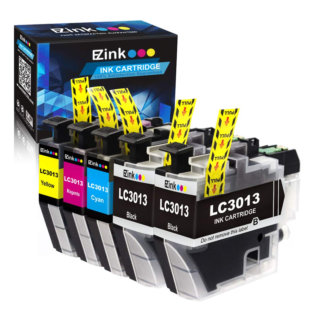 E-Z Ink (TM) Compatible Ink Cartridge Replacement for Brother LC3013 LC-3013 for use with Brother MFC-J491DW, MFC-J497DW, MFC-J690DW, MFC-J895DW Printer (2 Black, 1 Cyan, 1 Magenta, 1 Yellow) 5-Pack