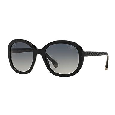 b750ed0d04d8d Chanel Matelassé Black CH5328 C501S8 56-20 Large Polarized Gradient   Amazon.co.uk  Clothing