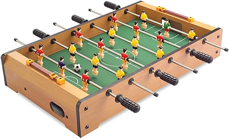 Futbolines Recuerdos De Juguete De Mesa Fútbol Máquina De Escritorio Boy Adult Entertainment Doble De Madera For Niños (Color : Wood Color, Size : 48 * 28 * 8.2cm): Amazon.es: Hogar