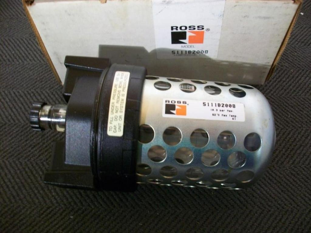 Ross Controls 5111B2008 Full-Size Series Lubricator, Sight Feed, 8 (236) Polycarbonate Bowl, 1/4'' NPT