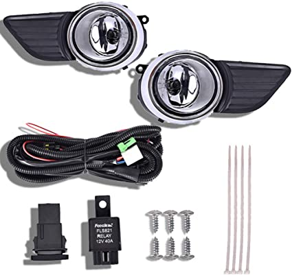 for 2011-2017 Toyota Sienna Clear Bumper Fog Light Lamp+Switch+Wiring Left+Right