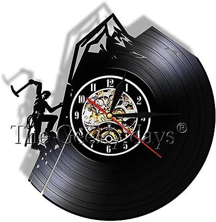 WTTA Reloj de Vinilo de Escalada en Roca Reloj de Pared de ...