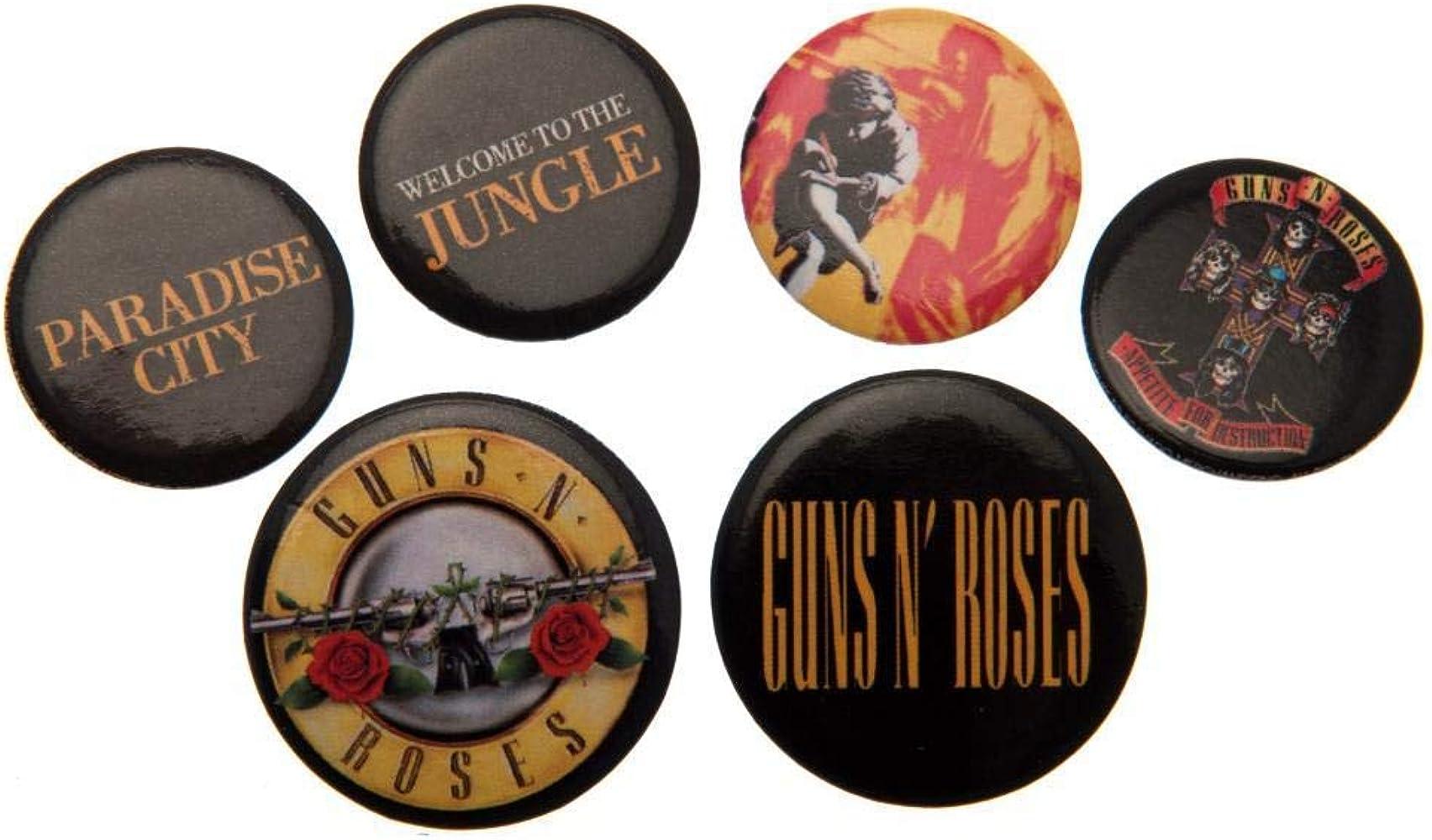 Guns N Roses - Pack de chapas (Talla Única) (Multicolor): Amazon.es: Ropa y accesorios