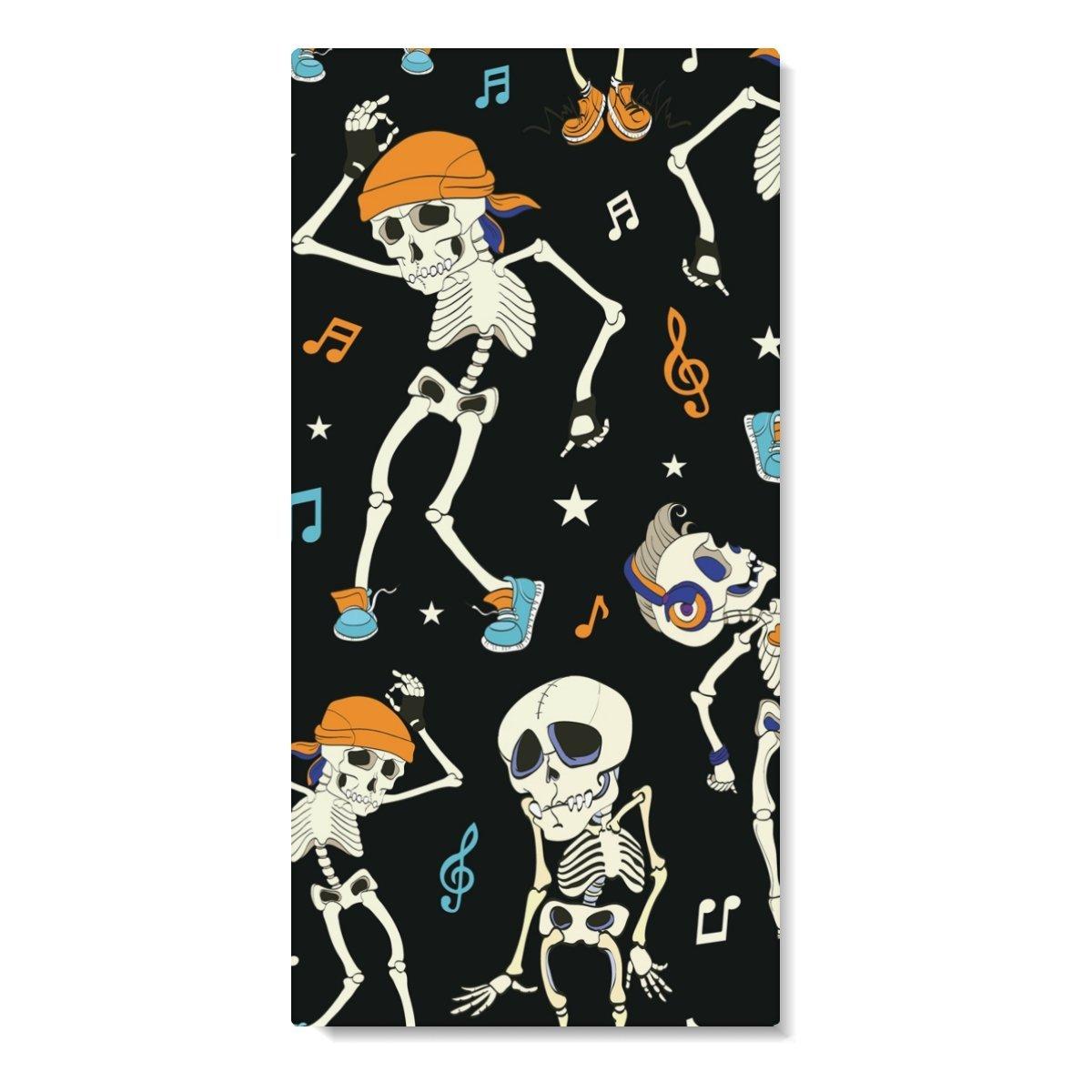 DEYYA Skull Dance Music Travel Beach Bath Towel 74'' x 37'',Lightweight Absorbent Fast Dry Oversized Towels Blanket Mat Perfect for Sports Bath Swim Camping Yoga